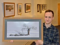 Teenage photographer Josh in the frame at Market Drayton exhibition