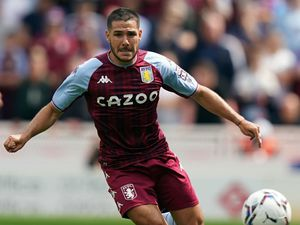 """Aston Villa's Emi Buendia during the pre-season friendly match at the bet365 Stadium, Stoke-on-Trent. Picture date: Saturday July 24, 2021. PA Photo. See PA story SOCCER Stoke. Photo credit should read: Nick Potts/PA Wire. ..RESTRICTIONS: EDITORIAL USE ONLY No use with unauthorised audio, video, data, fixture lists, club/league logos or """"live"""" services. Online in-match use limited to 120 images, no video emulation. No use in betting, games or single club/league/player publications.."""