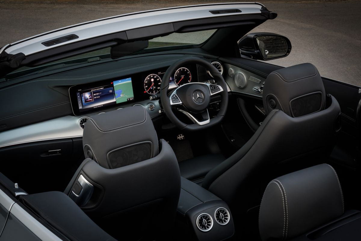 The cabrio's interior is a masterclass of elegance