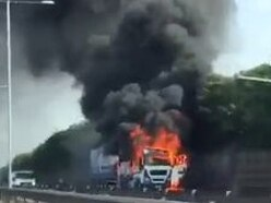 M6 drivers caught in delays after lorry blaze