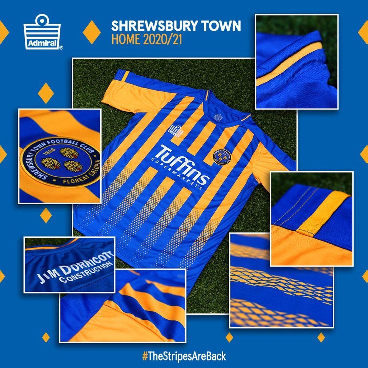 Shrewsbury Town reveal new kit for the 2020/21 season