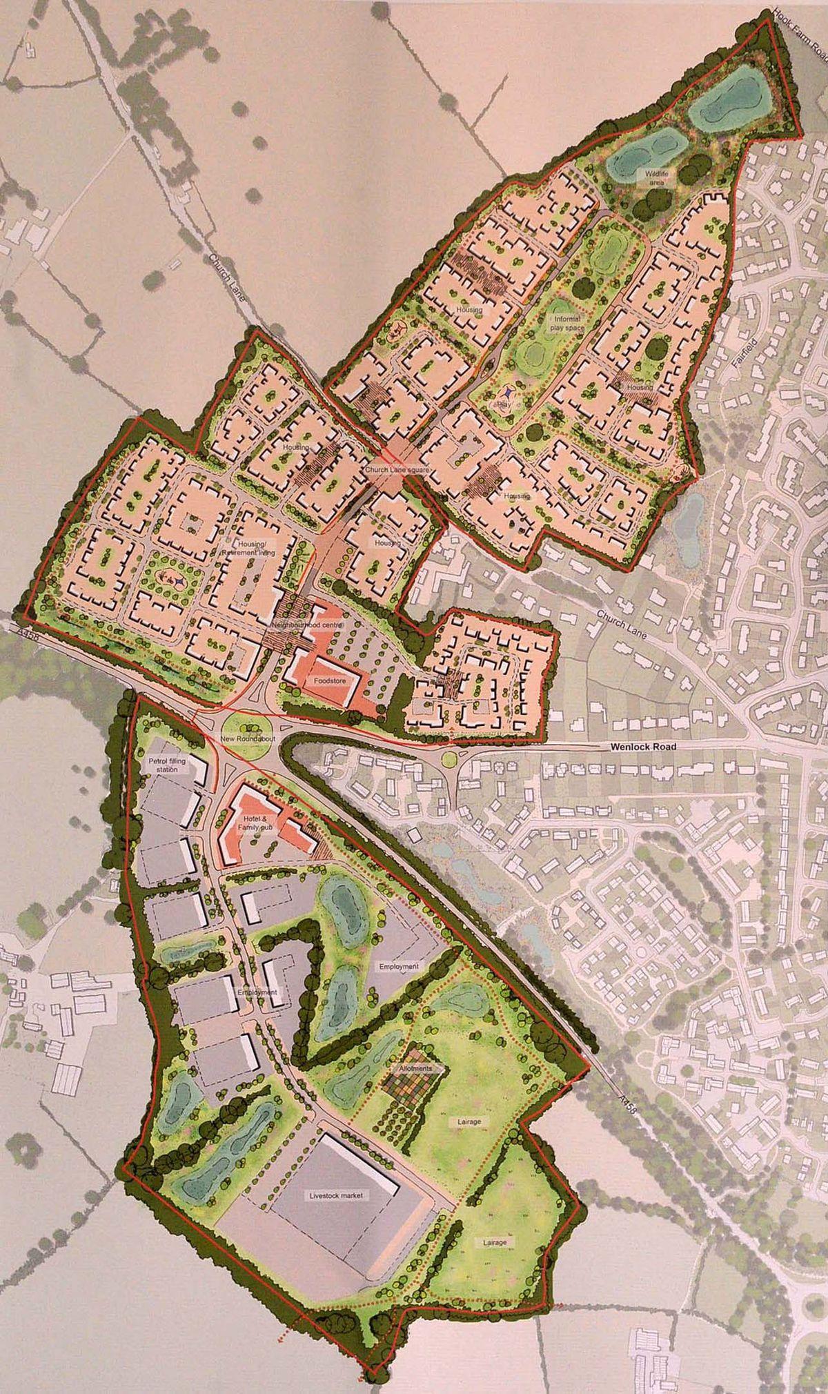 The masterplan for Tasley Gateway Development