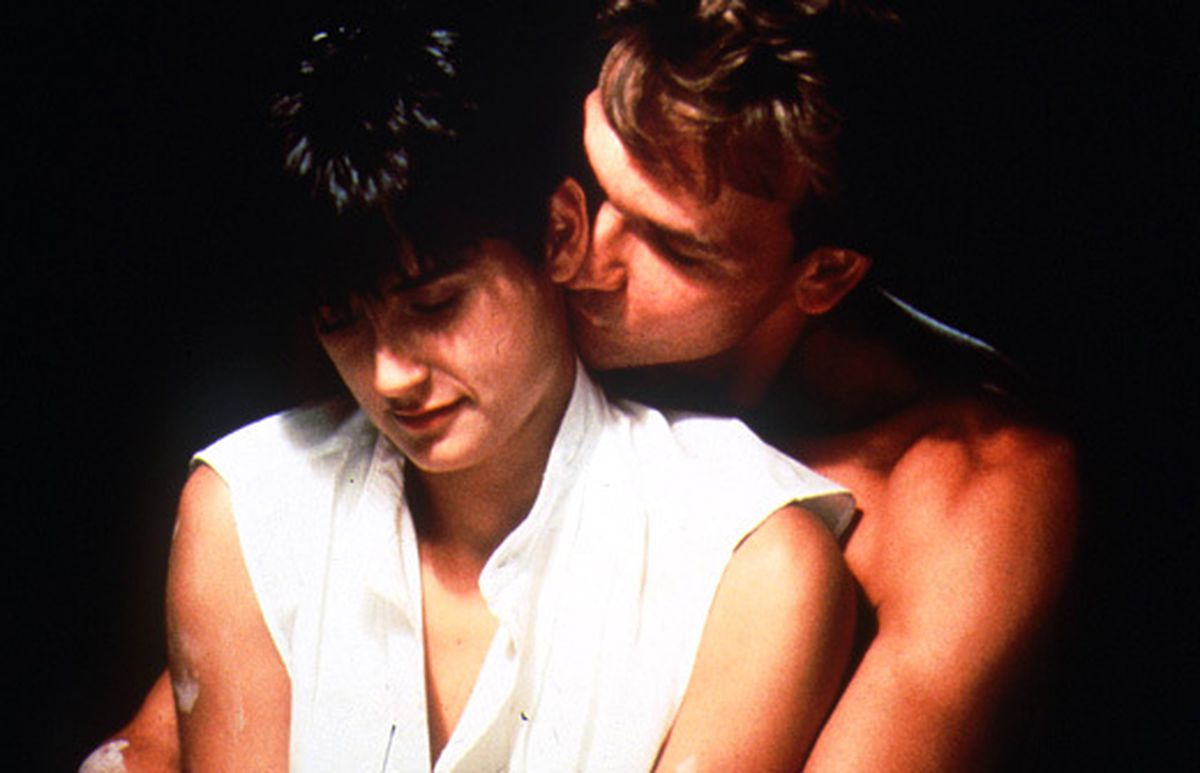 The movie Ghost, starring Demi Moore and Patrick Swayze, was a Christmas blockbuster in 1990.
