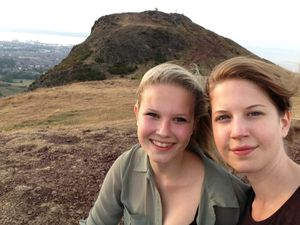 Alix Dietzel, right, and her sister Rosa