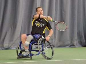 Kevin Drake in training for the Invictus Games