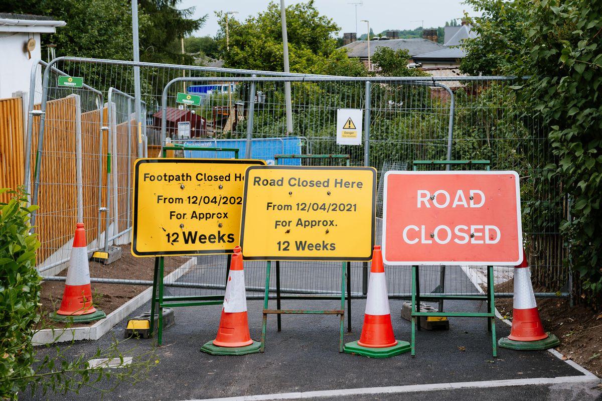 Road closure at the bridge