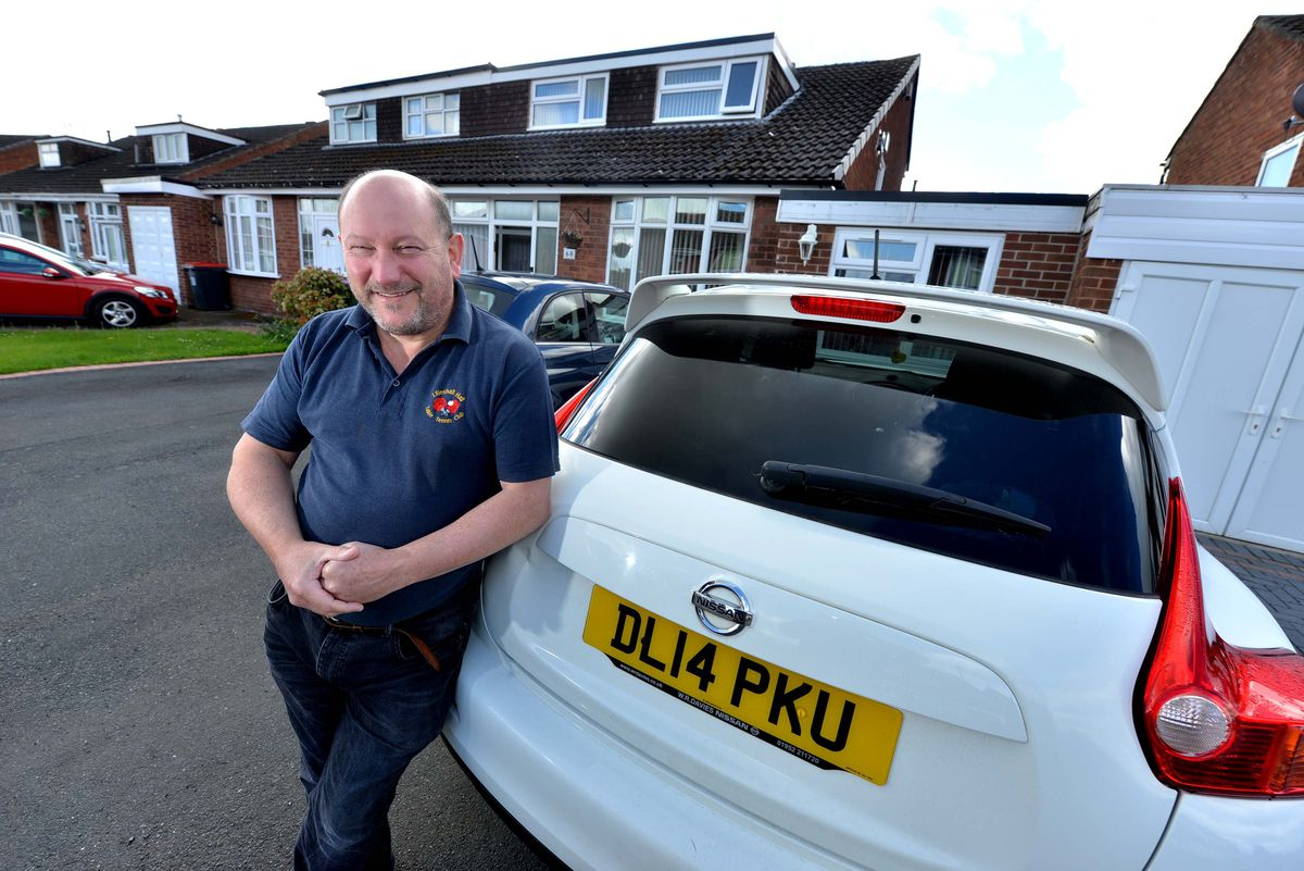 Donald Fear with his beloved Nissan Juke