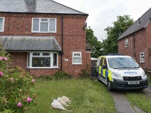 Police at the scene in Cranmore Road. Photo: SnapperSK