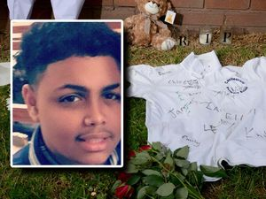 Tributes left at the scene where 15-year-old Keelan Wilson was stabbed
