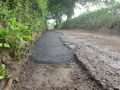 Council accused of dismal attempt to fix 'worst road in Shropshire'