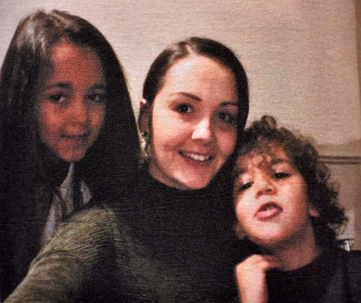 AJ and  Aaliyah with their mother Emma before she fell ill