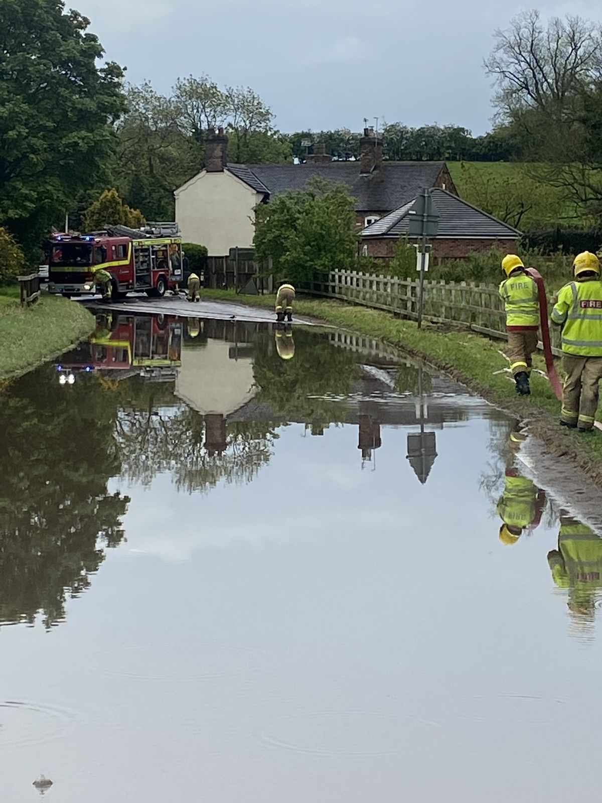 Preventing flooding at a house in Woore