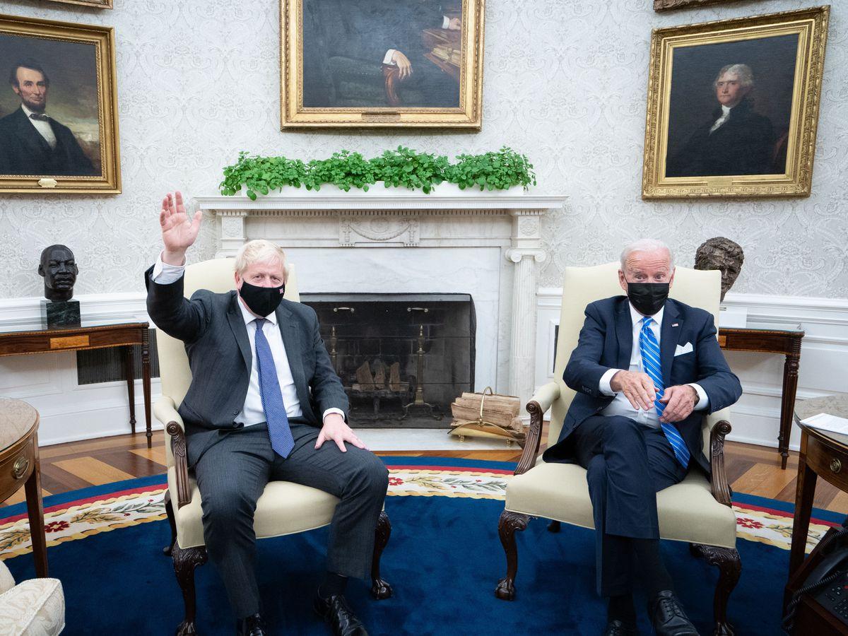Boris Johnson meets Joe Biden in the Oval Office
