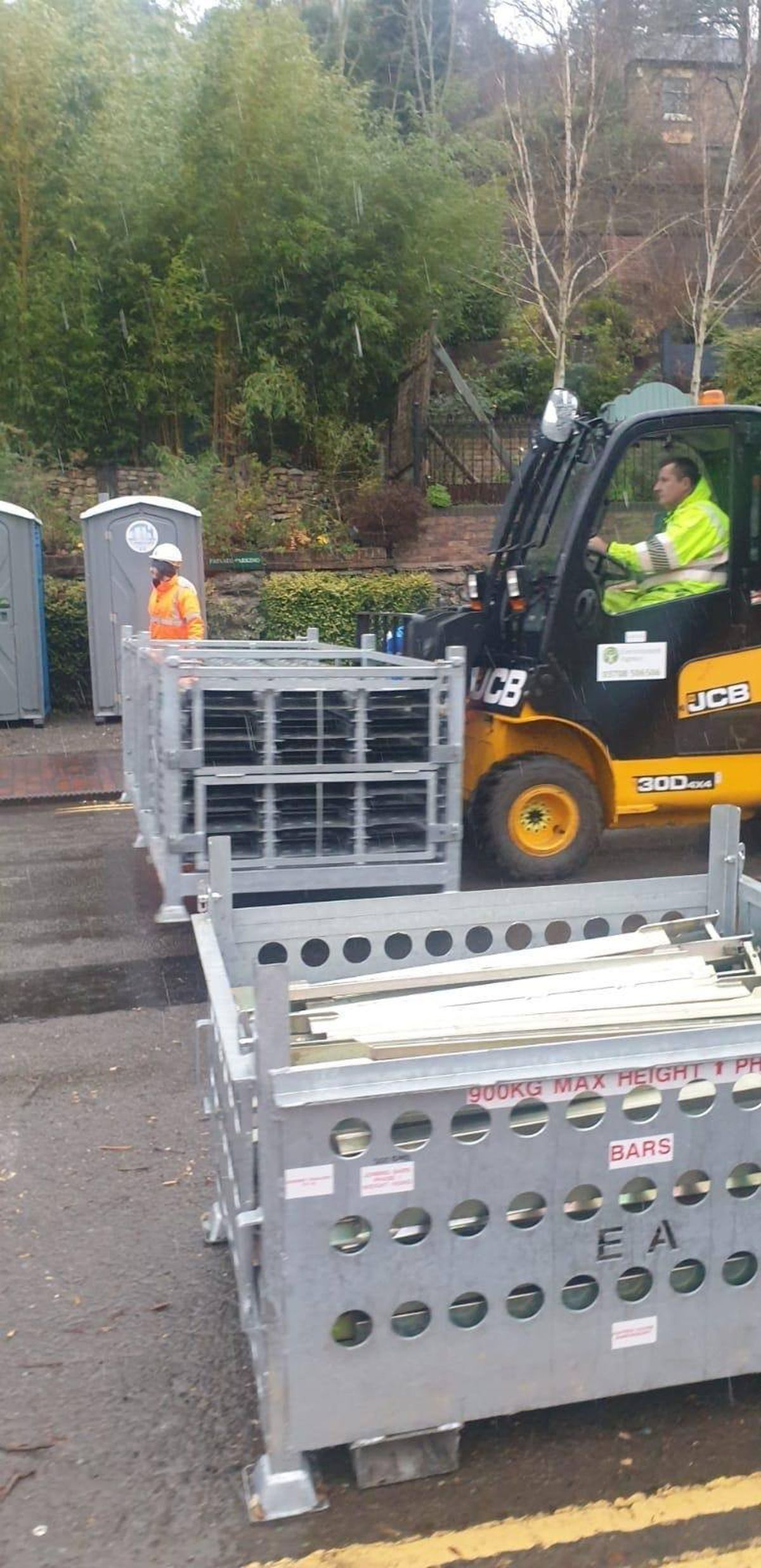 The flood barriers have been removed from Ironbridge