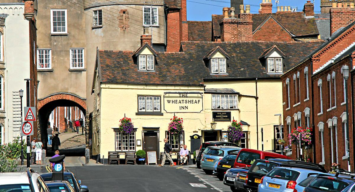 The German prisoner is said to have been downing pints at The Wheatsheaf Inn.