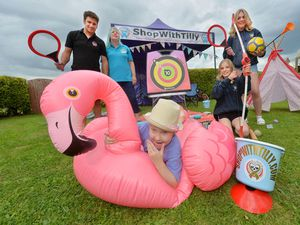 Tilly's family are preparing for Tilly Rae Fest later this month. Front is Tilly Rae Rhodes, 8, and back from left are Tilly's father and mother Tony and Jodie, her sister Tia, and family friend Hattie Hefford.