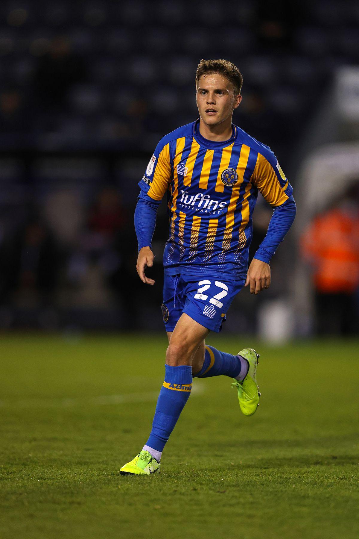 Josh Daniels of Shrewsbury Town.
