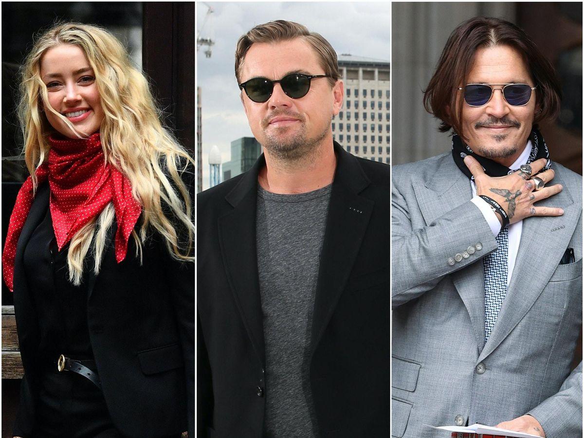 Amber Heard, Leonardo DiCaprio and Johnny Depp