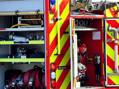Major wood yard fire averted near Whitchurch