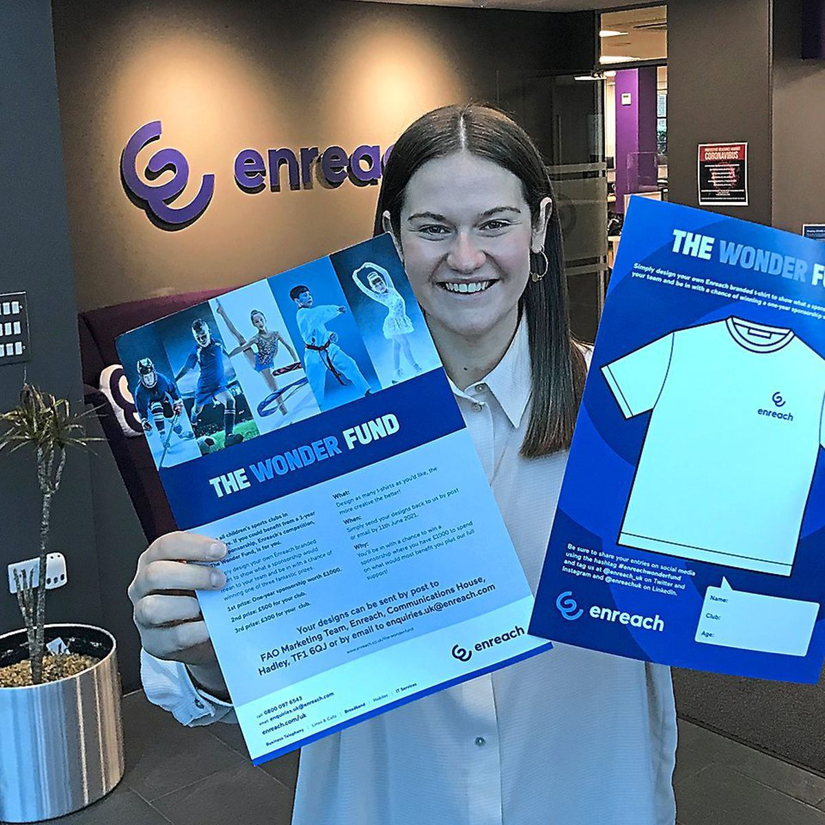 Amelia Ebdon, director of marketing UK, showcases the competition's entry pack