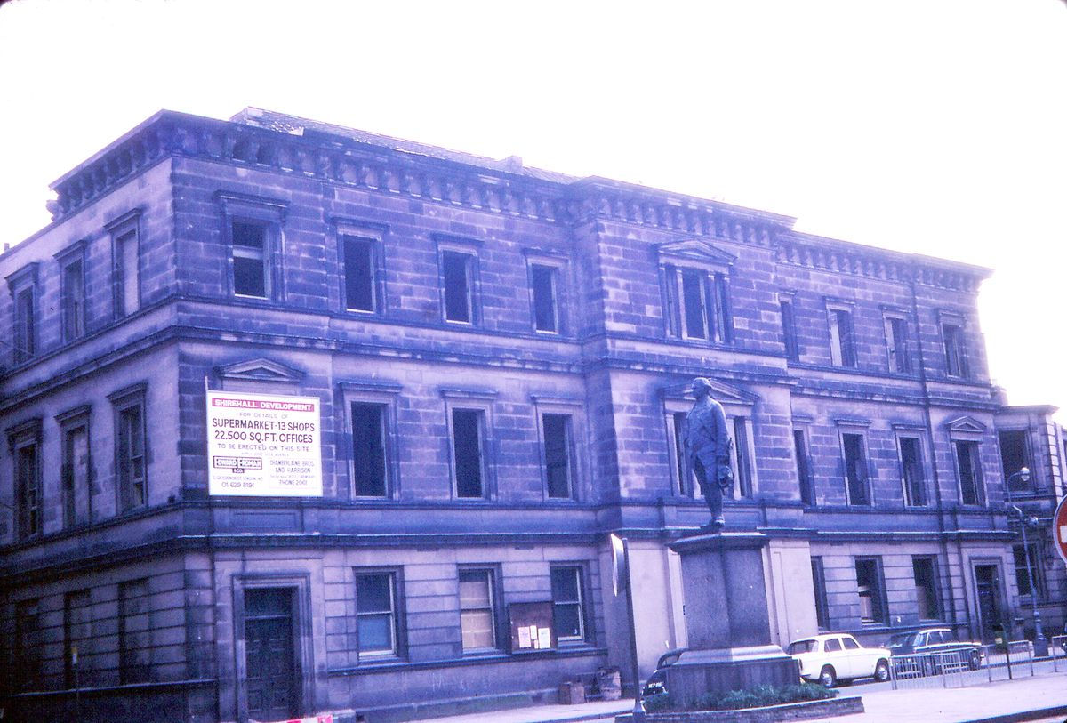 The old Shirehall in The Square – it was demolished in 1971