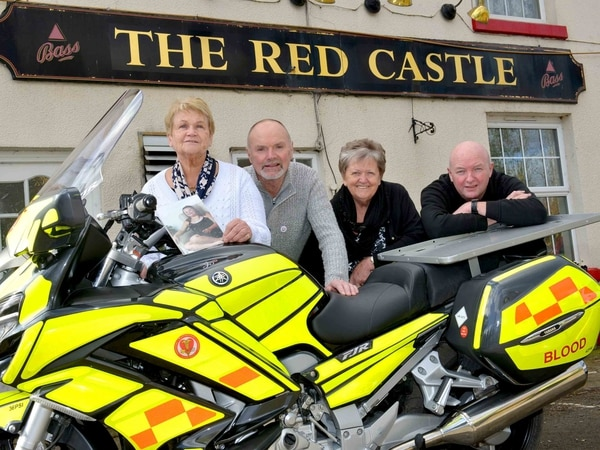 New blood bike unveiled in memory of Joanne Harris
