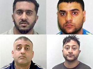 Top: Amjad Hussain, left, and Mohammed Ali Sultan. Bottom: Mohammed Rizwan, left, and Shafiq Younas.