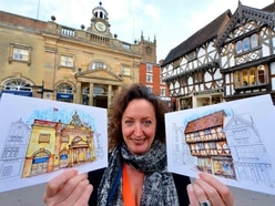 Artist Jilly puts Ludlow's historic buildings in the picture