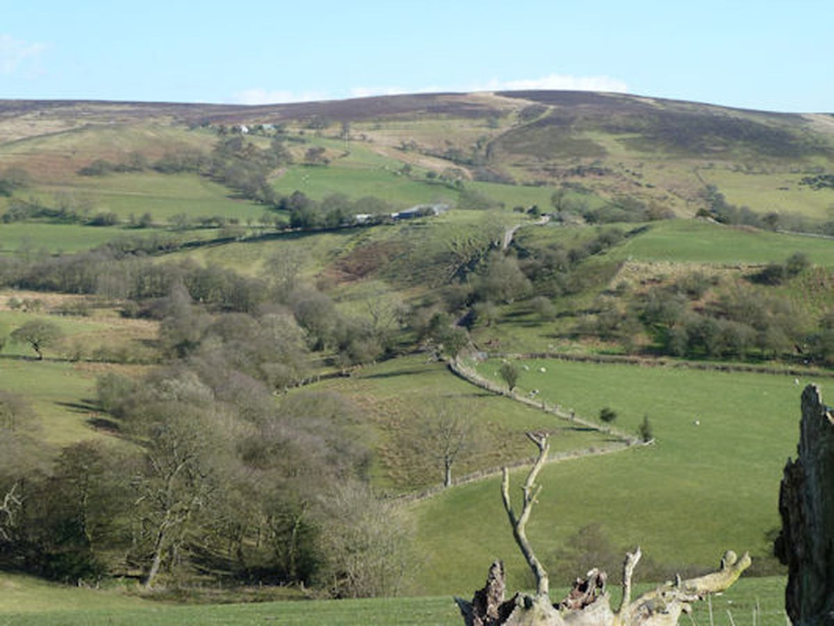 Where it all began. A view towards Medlicott, in the shadow of the Long Mynd.