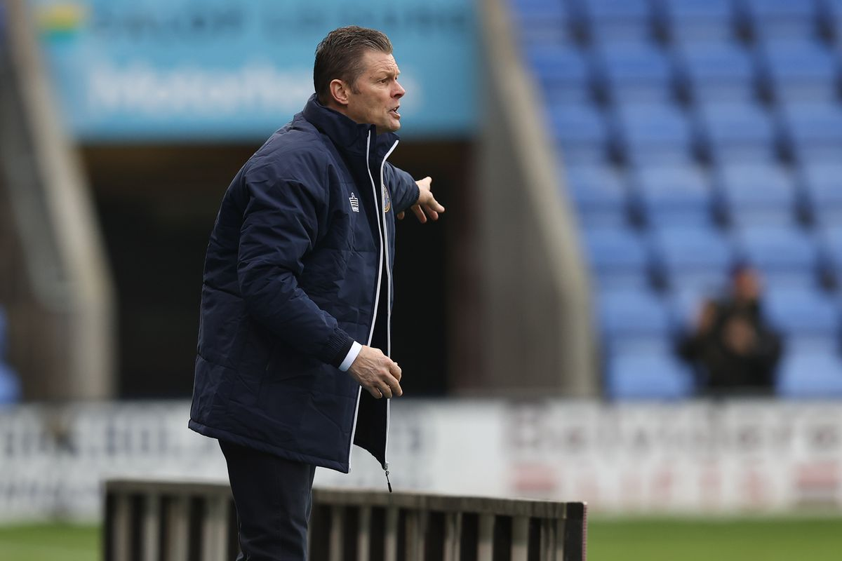 Steve Cotterill the head coach / manager of Shrewsbury Town gestures. (AMA)