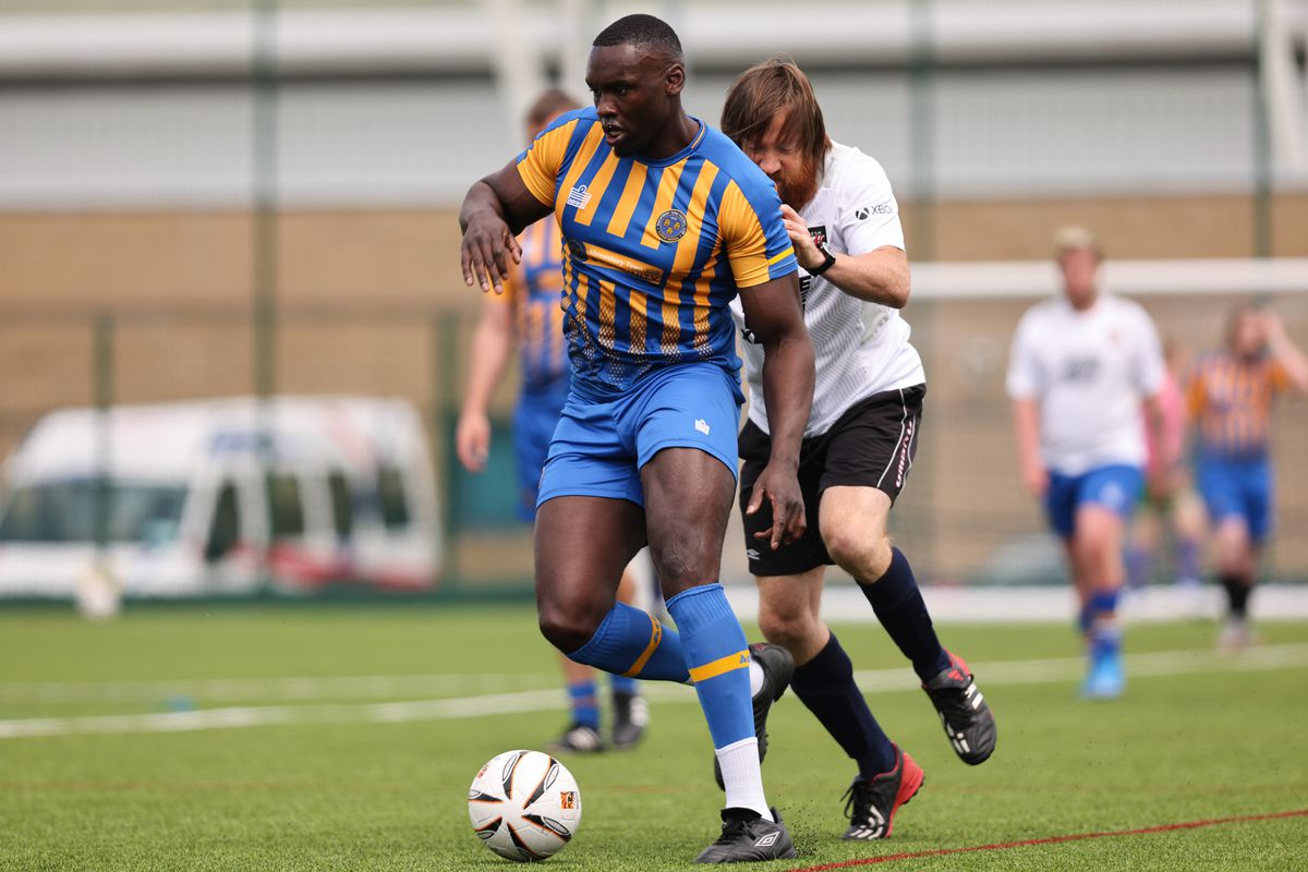 Jermaine Grandison - Shrewsbury Town in the Community 3G Pitch official opening. (AMA)