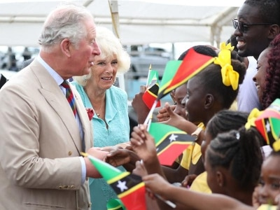 Crowds out in force as Charles and Camilla visit St Kitts and Nevis