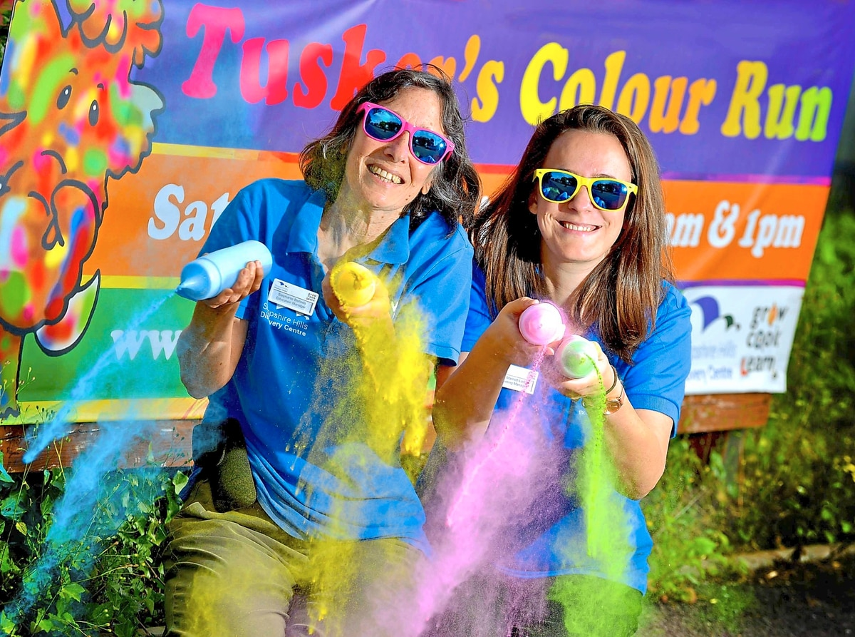 Colour run Shropshire discovery centre