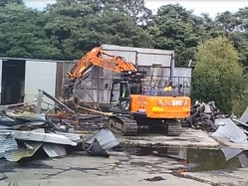 Shropshire tyre site clean-up still rolling on - watch the video