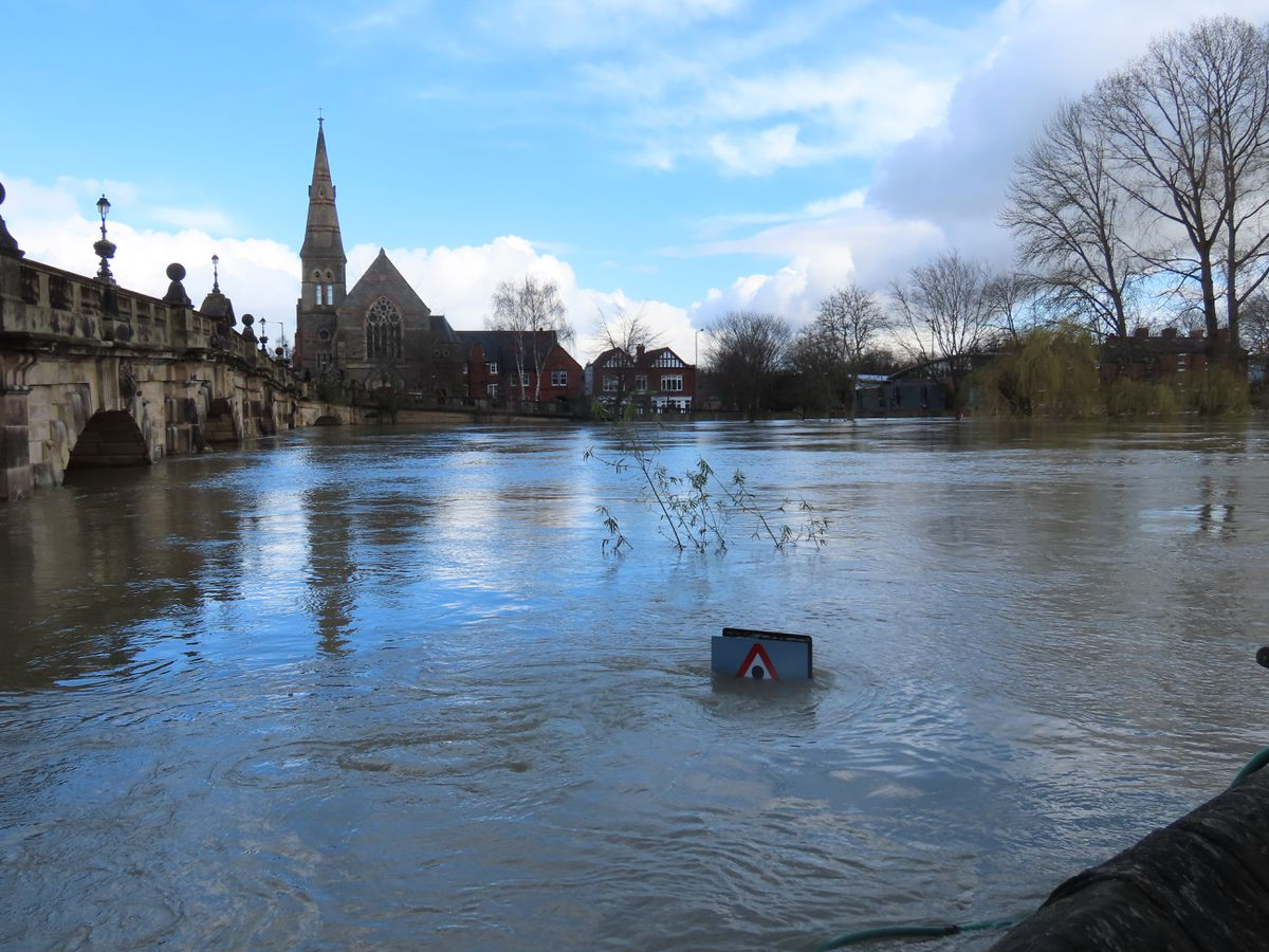 Colin Preston says natural solutions must be found to alleviate flooding, like this seen in Shrewsbury