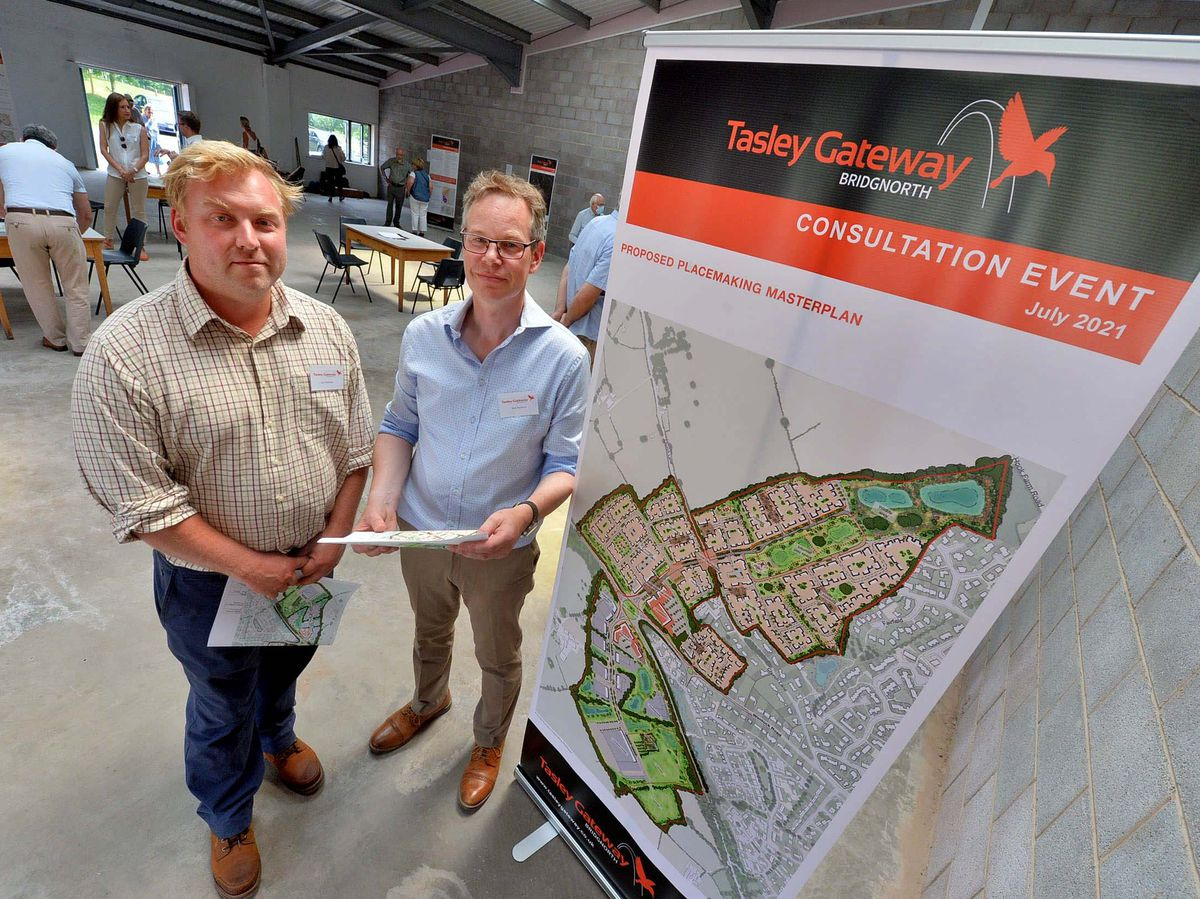 Landowner Jon Hickman and project manager Nick Norbury