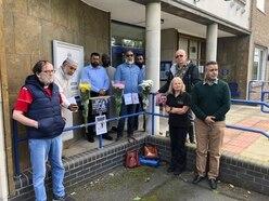 Wellington residents hold moment's silence for tragic PC Andrew Harper