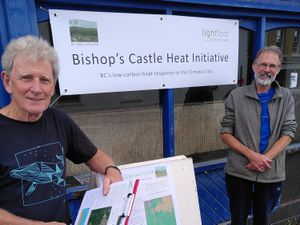 David Luckhurst and Dave Thomlinson are consulting residents about plans for a central heat pump