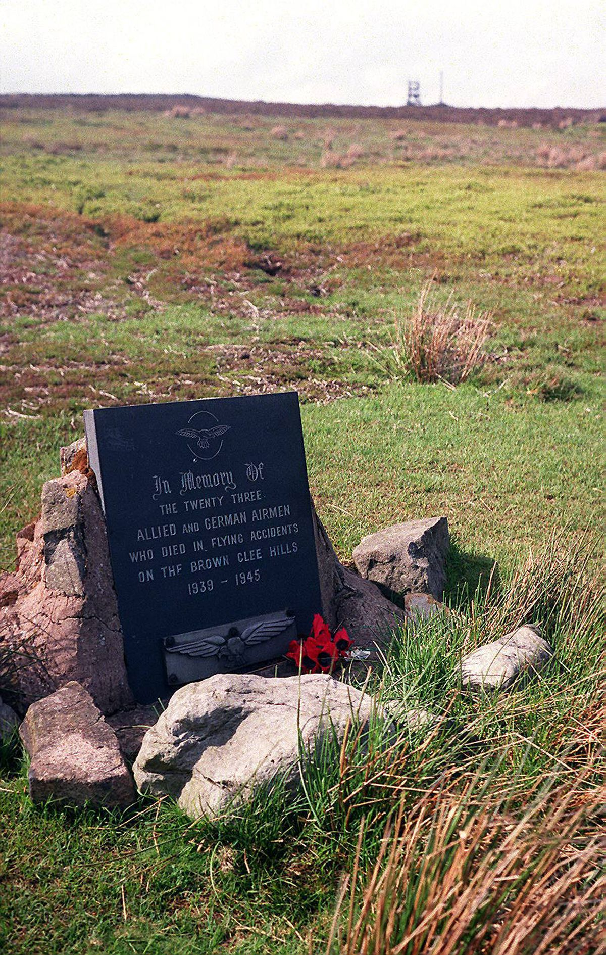 The memorial on Brown Clee Hill was erected without fanfare in 1981.