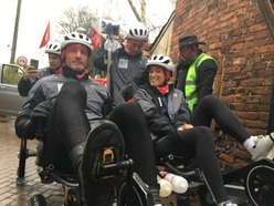 Gareth Thomas' Sport Relief Tour de Trophy welcomed in Shropshire