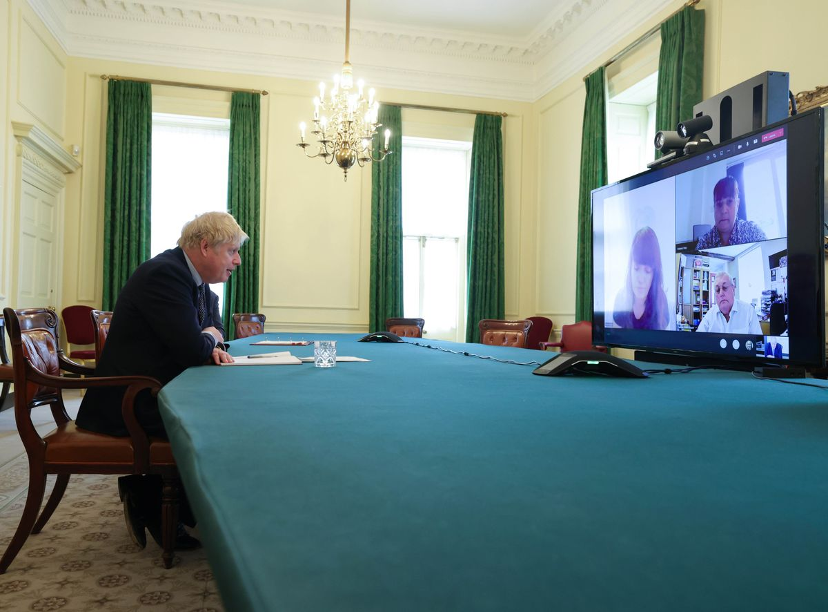Tracy Falstead's online meeting with Boris Johnson