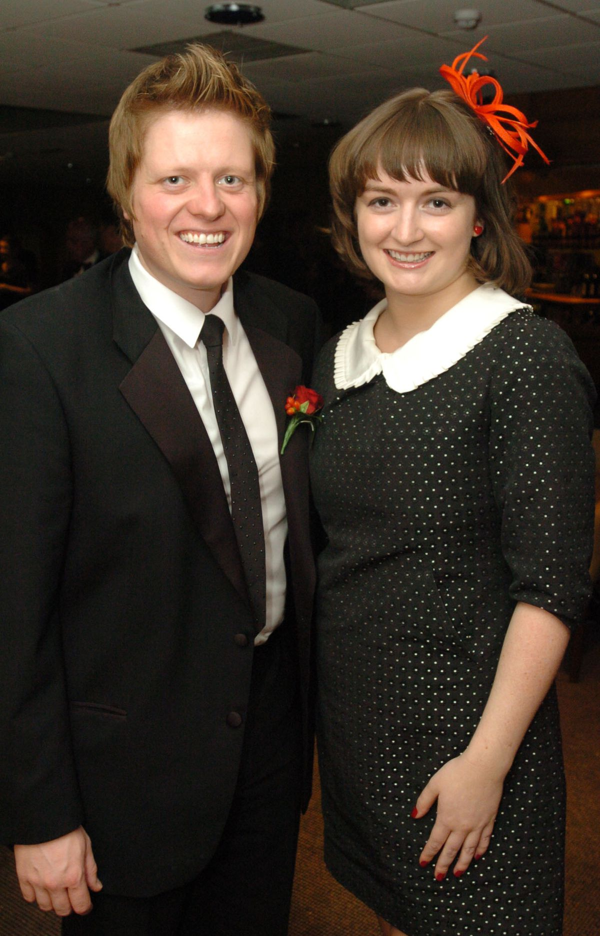 James Holt with former colleague AlysCOR Cummings at Shropshire Press Ball at the Grays Hotel, Telford, in 2010
