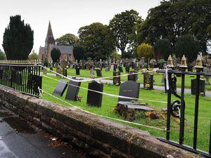 NORTH PIC  /  DAVID HAMILTON PIC / SHROPSHIRE STAR 5/10/20 Damaged fence, at Market Drayton Cemetery, Cemetery Road, Market Drayton..