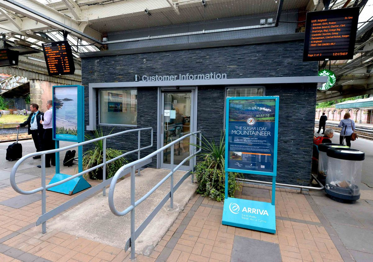 Arriva Trains Wales led the work, which included a new information desk
