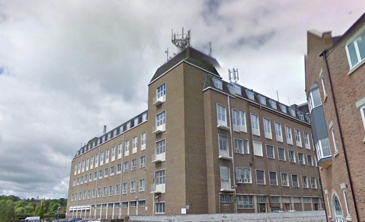 The BT Exchange on Town Walls, Shrewsbury. Photo: Google StreetView.