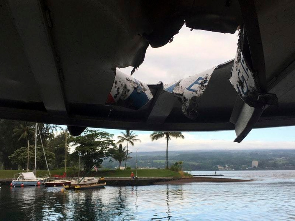 23 people hurt after lava crashes through roof of Hawaii tour boat