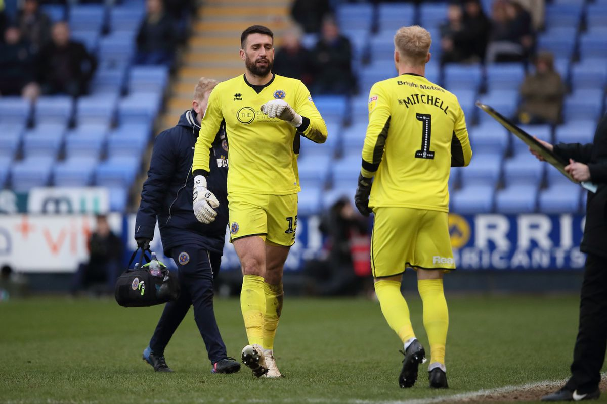 Jonathan Mitchell comes on for Steve Arnold against Portsmouth (AMA)