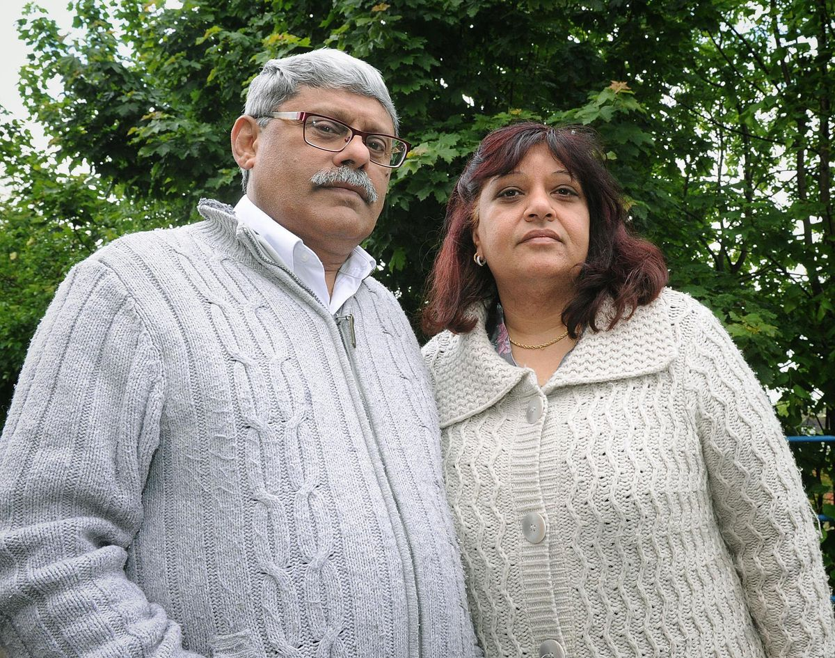 Rubbina Shaheen with husband Mohamed