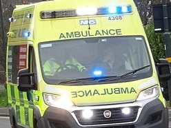 Two people taken to hospital after car and van crash in Craven Arms