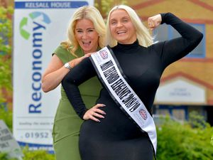 Miss Telford Elegance Georgina Powell heads for the Miss British Isles final with Faith Mackey